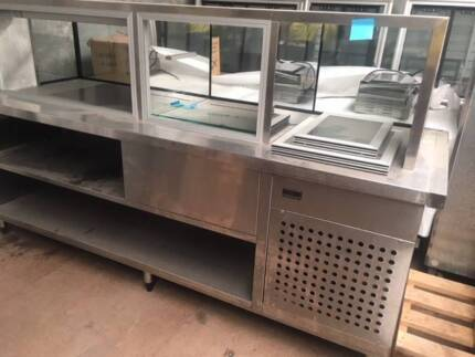 STAINLESS STEEL HOT / COLD FOOD DISPLAY