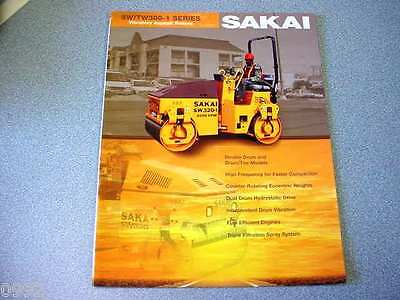 Sakai Swtw300-1 Series Vibratory Asphalt Rollers Brochure