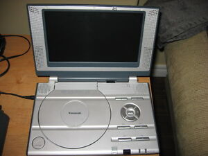 PORTABLE KAWASAKI DVD PLAYER & CHARGERS & REMOTE Windsor Region Ontario image 1