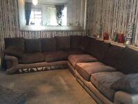Grey extra large corner sofa great price hardly used