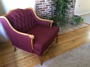 Antique Chair and Couch _ French Provincial