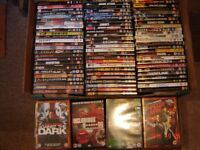 100 VARIOUS USED DVDS FROM A PRIVATE COLLECTION. (IN GOOD CLEAN CONDITION) LOT#3