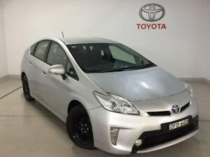 2012 Toyota Prius ZVW30R Silver 1 Speed Constant Variable Liftback Hybrid Chatswood Willoughby Area Preview