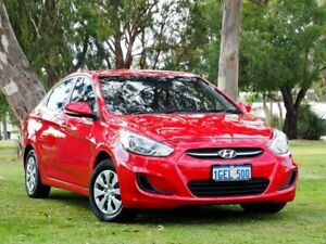 2016 Hyundai Accent RB4 MY16 Active Red 6 Speed Constant Variable Sedan Myaree Melville Area Preview