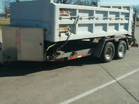 !2000 lb. Skid Steer trailer, Lowbed