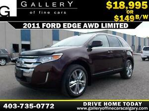 2011 Ford Edge Limited AWD $149 bi-weekly APPLY NOW DRIVE NOW