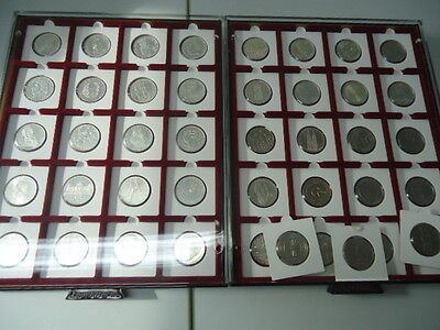 "DEUTSCHLAND 1952/1986 - Alle 43 x 5 DM Silber, vz komplett inkl. ""Ersten Fünf"""