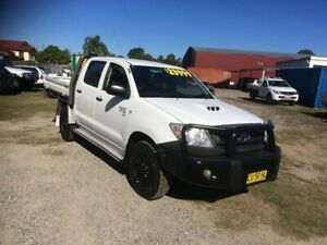 2011 Toyota Hilux KUN26R MY10 SR White 5 Speed Manual Utility South Grafton Clarence Valley Preview
