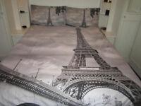 Paris - Double bed quilt cover set