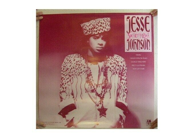Jesse Johnson Poster Purple Old