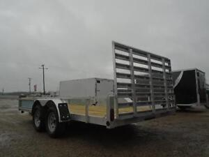 16' ALUMINUM TRAILER WITH ATV RAMPS - LOTS OF STANDARD FEATURES London Ontario image 2