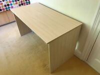 Desk - simple - light wood effect finish