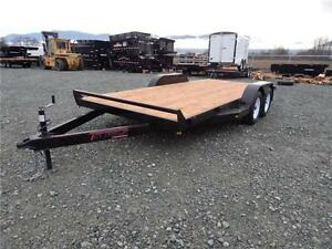 NEW 16' 7,000lb CAR EQUIPMENT FLATDECK TRAILER