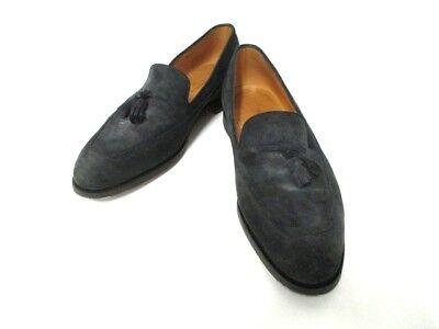 Auth JOHNLOBB Black Suede Shoes Men