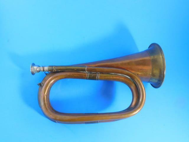 Vintage Bugle Made Of Copper & Brass Nice Condition Musical Instrument