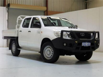 2014 Toyota Hilux KUN26R MY14 SR Double Cab White 5 Speed Automatic Cab Chassis Bibra Lake Cockburn Area Preview