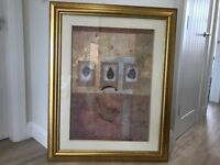 Large picture with gold frame