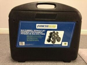 FITNESS CLUB - 36LB DUMBBELL WORKOUT SET - BRAND NEW