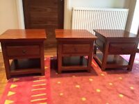 Solid wood side tables x 3