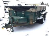 6x12 dump trailer with ramps