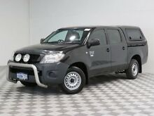 2011 Toyota Hilux TGN16R MY11 Upgrade Workmate Black 4 Speed Automatic Dual Cab Pick-up Morley Bayswater Area Preview