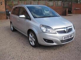 2008 08 Vauxhalll Zafira 1.9CDTi 16v SRi Silver Metallic