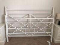 White frame King bed (Next) slatted base