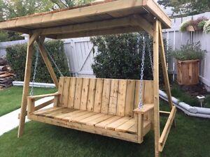 Patio/Deck/Yard Swing. Solid Pressure Teated Lumber!!!