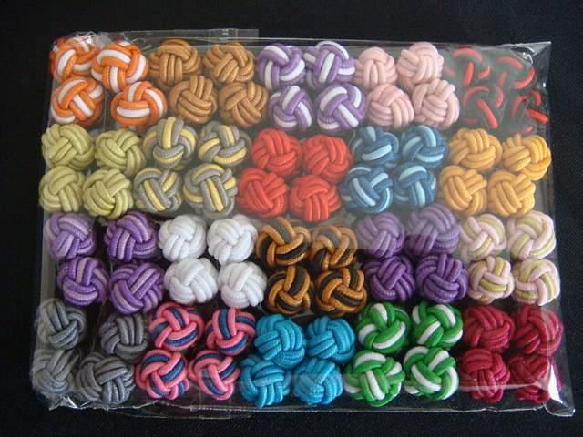 New Silk Knot Cufflinks Cuff Links 20 Pairs C2