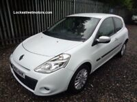 RENAULT CLIO 2010 I-MUSIC 1.2 16V 3 DOOR WHITE 72,000 MILES PART SERVICE HISTORY M.O.T 16/11/18