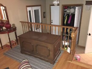 complete bedroom set and cedar chest