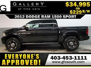 2012 DODGE RAM SPORT LIFTED *EVERYONE APPROVED* $0 DOWN $229/BW