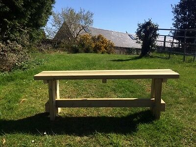 7FT GARDEN BENCH SEAT EXTRA HEAVY DUTY PRESSURE TREATED  REDWOOD