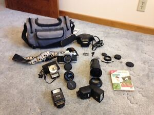 Canon AE1 Film Camera with Accessories