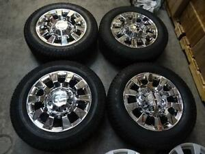 "20"" Chrome GMC Denali wheels and tires 8 stud new"