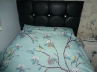 Single Bed, Headboard, Mattress and Bedding