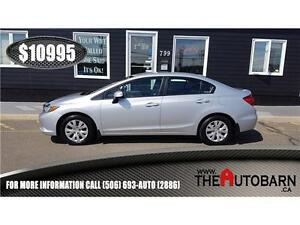 2012 HONDA CIVIC LX SEDAN - 5 SPEED, CRUISE, BLUETOOTH