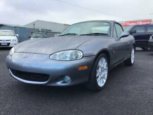 2002 Mazda MX-5 NB Titanium Grey 6 Speed Manual Convertible Delacombe Ballarat City Preview