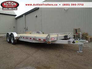 20' ALUMINUM CAR/EQUIPMENT HAULER - COMES WITH UPGRADED OPTIONS
