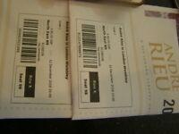 andre rieu tickets x 2