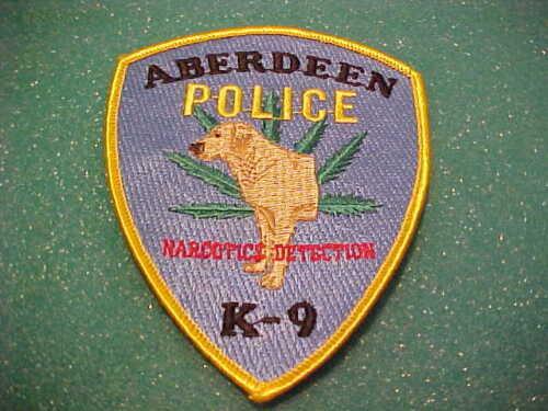 ABERDEEN MARYLAND K-9 NARC. POLICE PATCH SHOULDER SIZE UNUSED