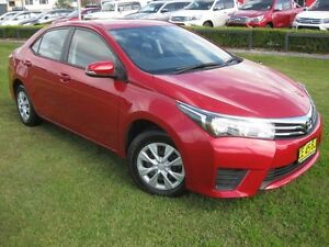 2015 Toyota Corolla ZRE172R Ascent Red 7 Speed CVT Auto Sequential Sedan South Grafton Clarence Valley Preview