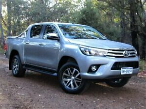 2018 Toyota Hilux GUN126R SR5 Double Cab Silver 6 Speed Sports Automatic Utility Kalamunda Kalamunda Area Preview