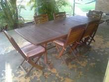 Timber Outdoor Dining Setting Surfers Paradise Gold Coast City Preview