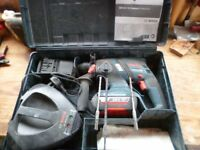 1 x Bosch GBH 36 V-LI EC CP 2.9kg 36V 2.0Ah Li-Ion Coolpack Cordless Brushless SDS Plus Drill