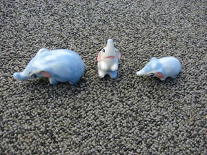 collection of the 3 pcs set Elephants porcelain -