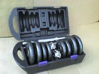 40 lb's 18 kg Metal Dumbbell barbell Weights and Bars - Heathrow