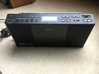 Sony ZSPE60 Slim Compact CD/Radio Boombox - Black