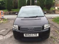 AUDI A2 1.4 BLACK PETROL, HATCHBACK, ALLOYS, 2003/2004