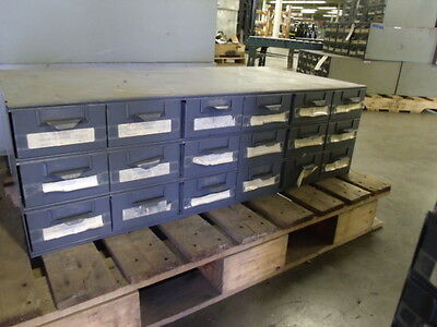 Lyon Metal Supply Parts Bin Cabinet With 18 Drawers 34 X 17 X 10 12